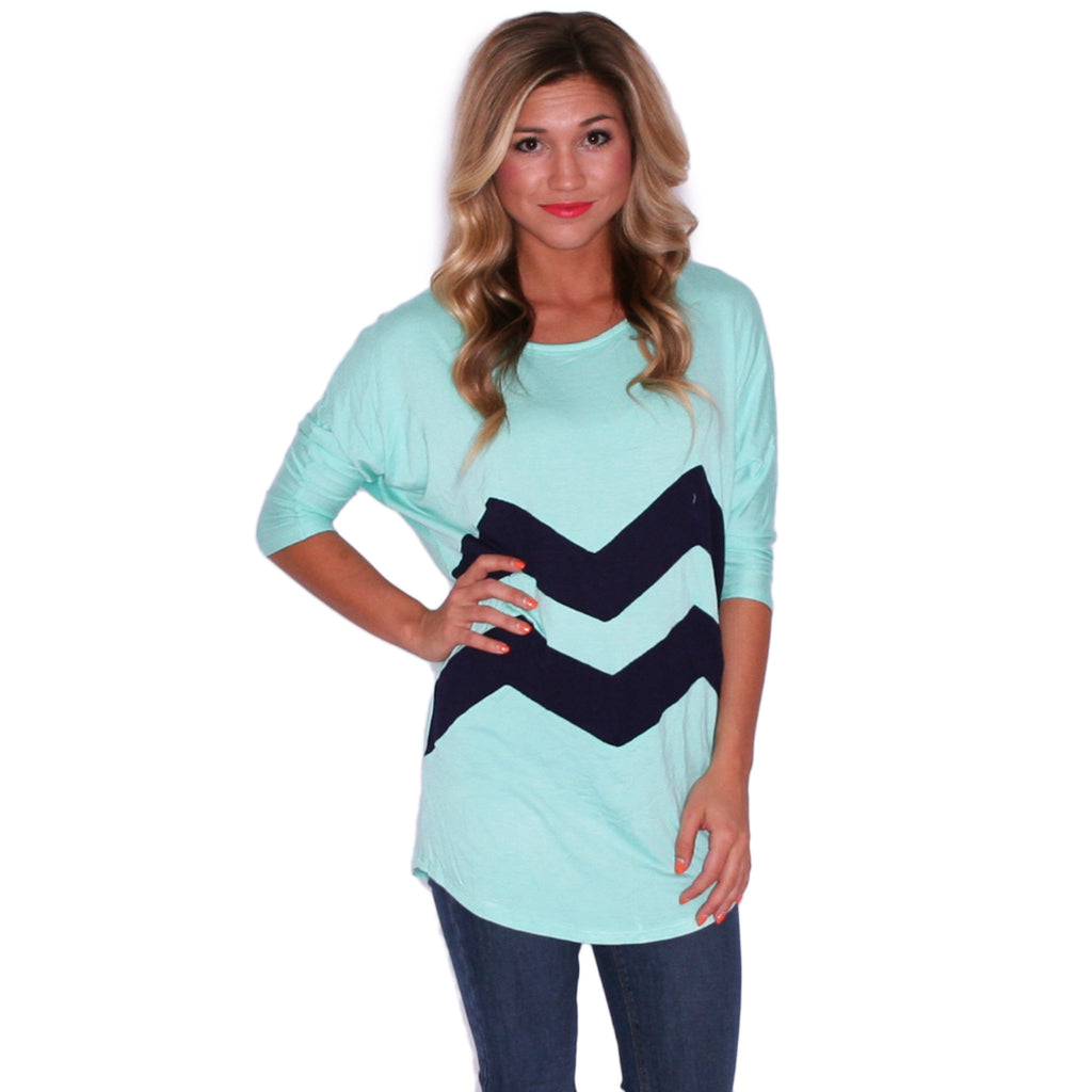 I Think This is Love Mint/Navy