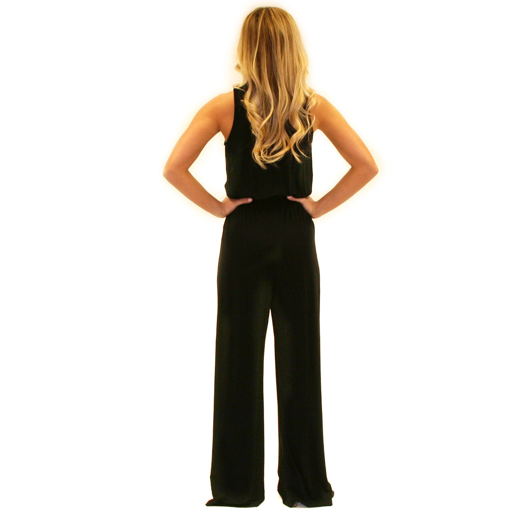 Keeping It Breezy Jumpsuit in Black
