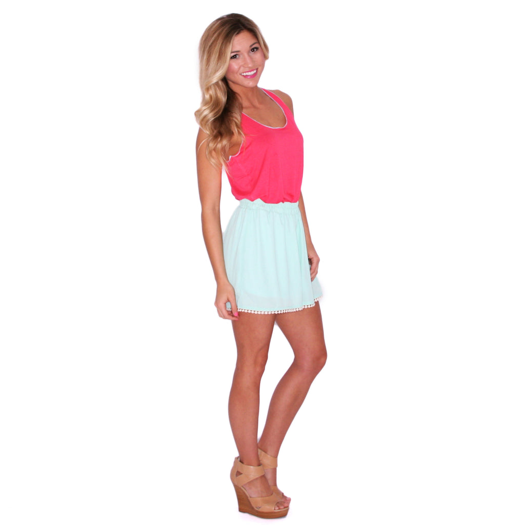 Kiss & Tell Tank in Coral