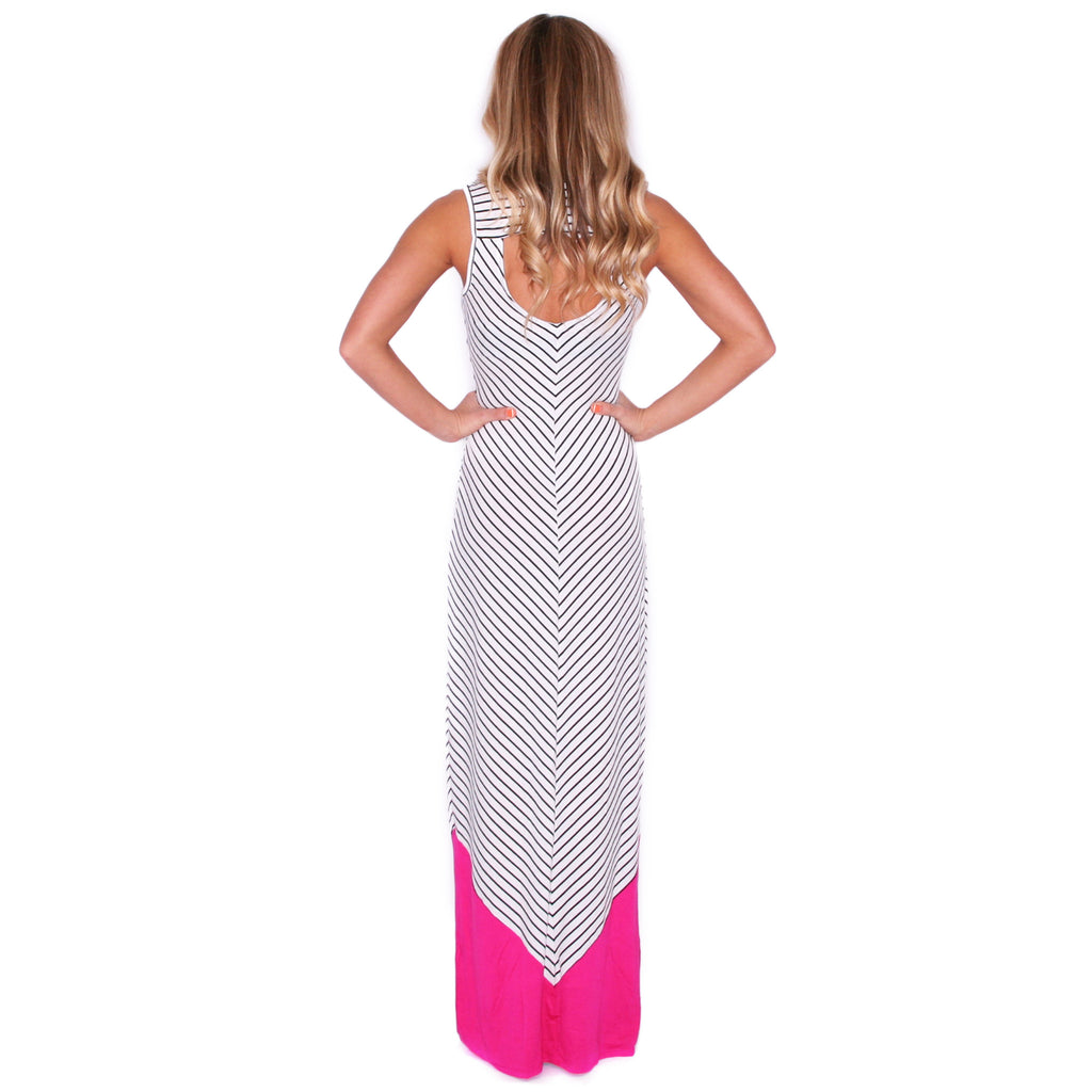 Stay Inspired Maxi in Fuchsia