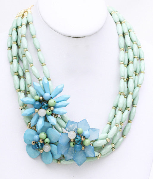 Kisses for Days Necklace in Mint