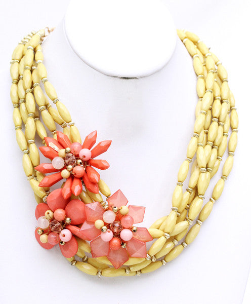 Kisses for Days Necklace in Yellow