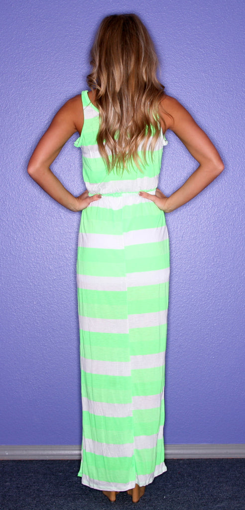 Kiss Me Stripe Green