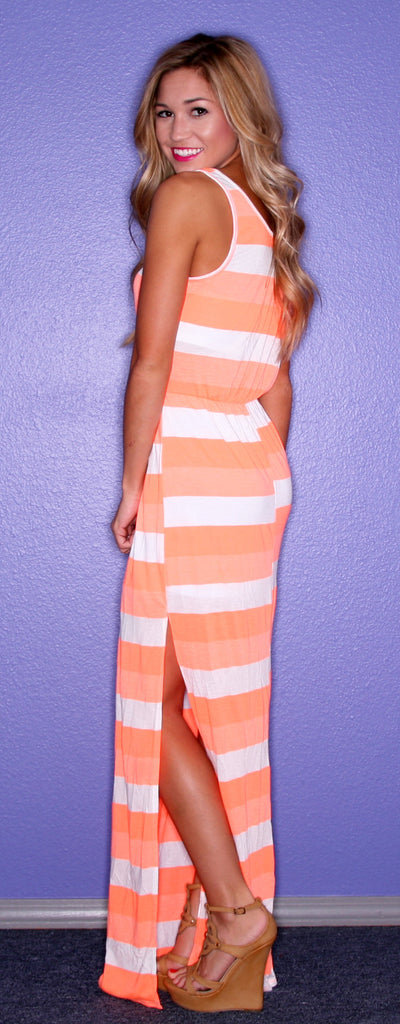 Kiss Me Stripe Orange