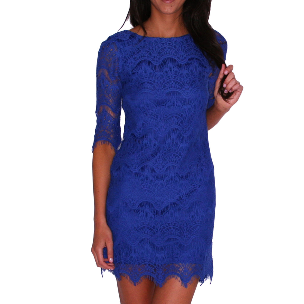 Close Knit Dress in Blue