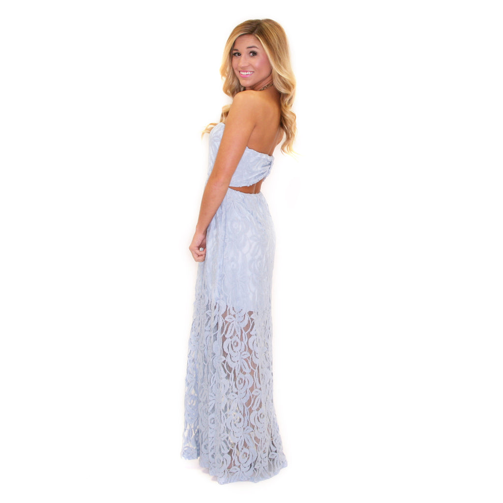 Lace Grace Maxi Light Blue