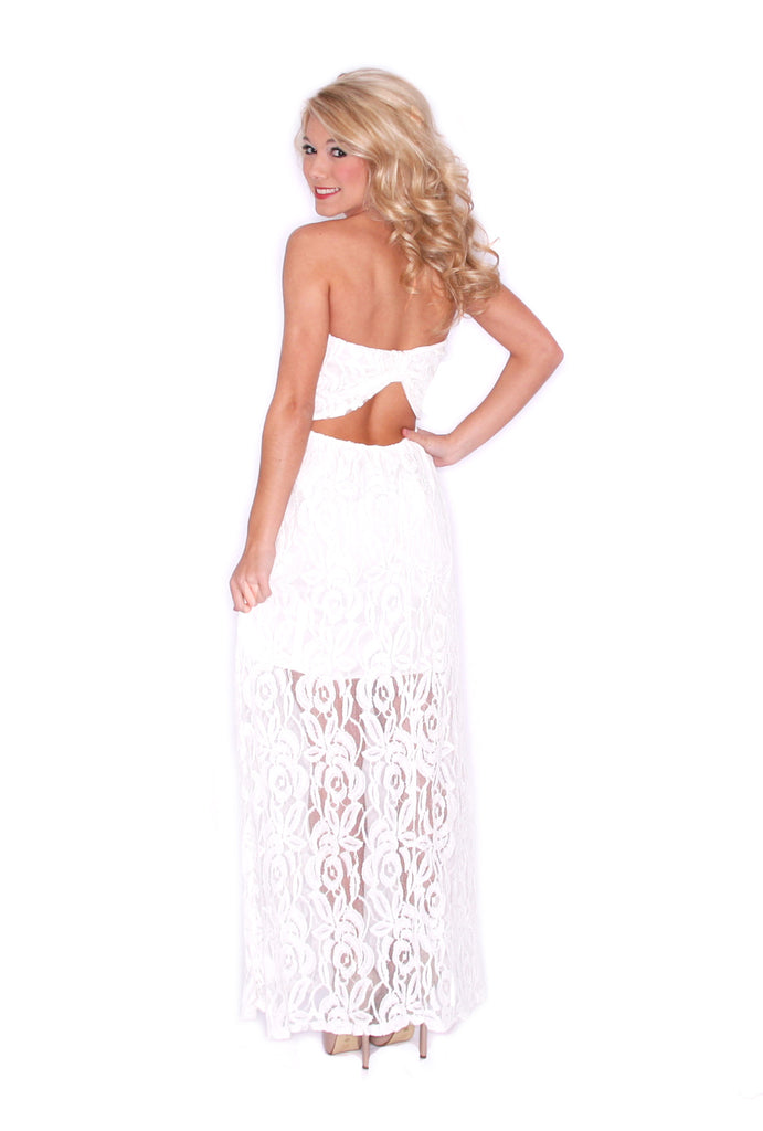 Lace Grace Maxi White