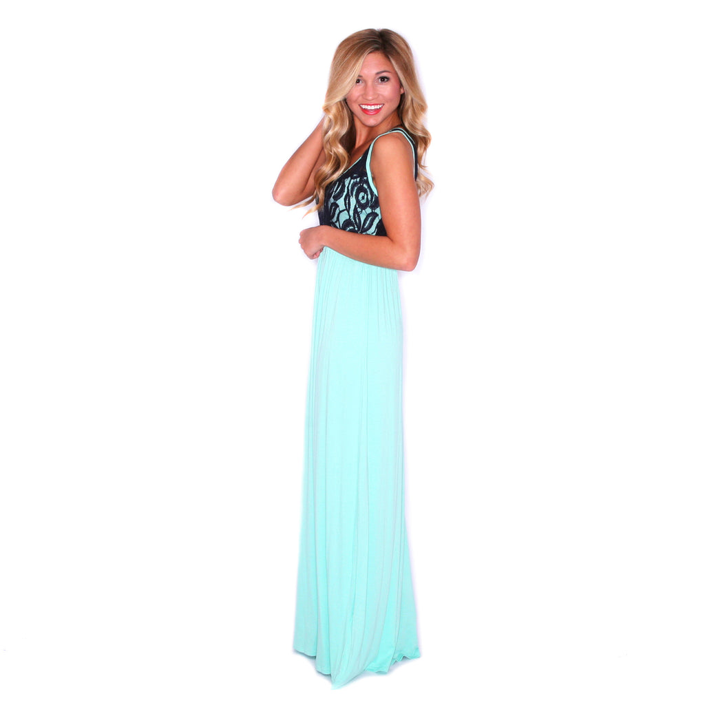 Lace Is More Maxi Mint
