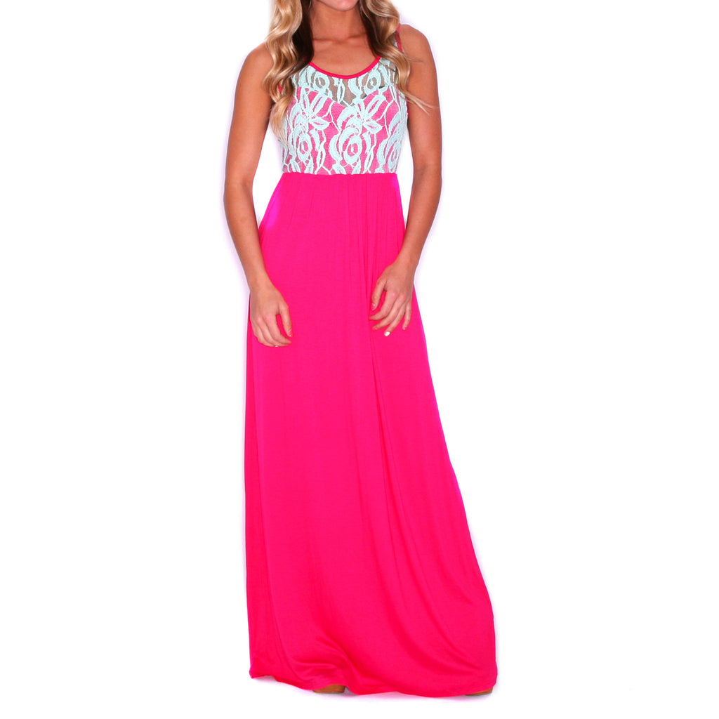 Lace Is More Maxi Fuchsia
