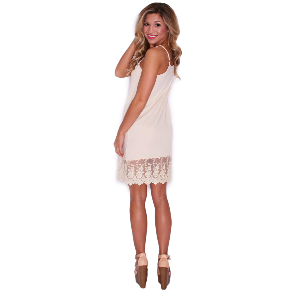 Lace Slip Dress Extender in Ivory