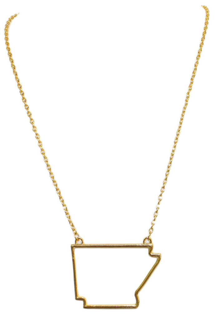 Large Arkansas Gold Necklace