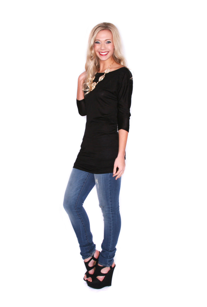 Layering Season Tunic Black