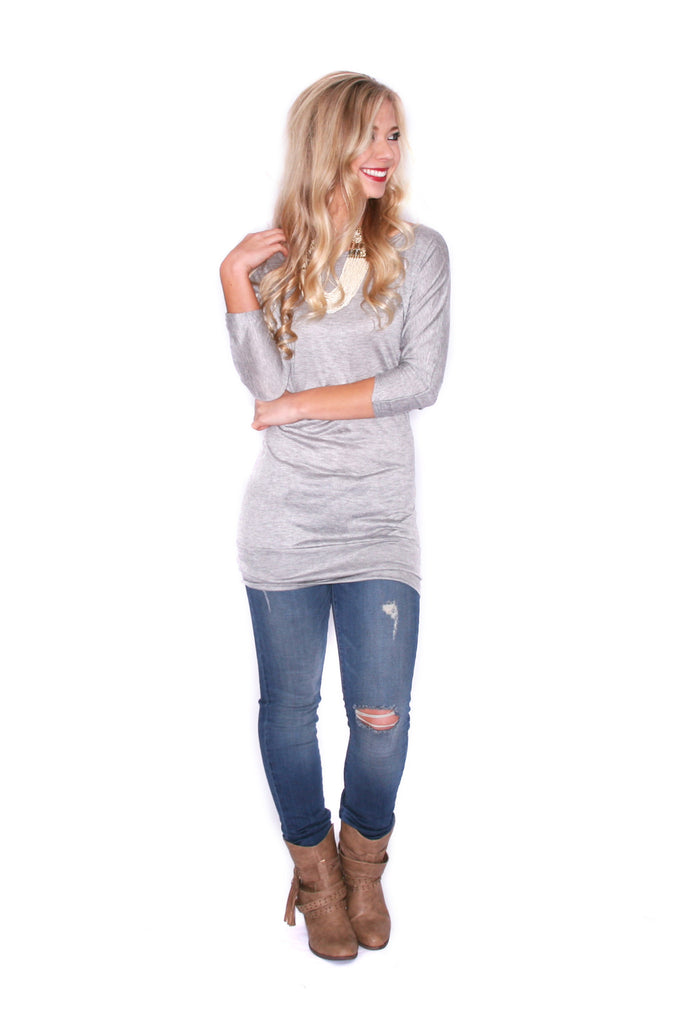Layering Season Tunic Grey