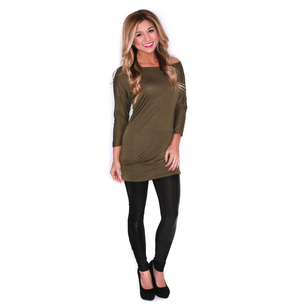 Layering Season Tunic Olive
