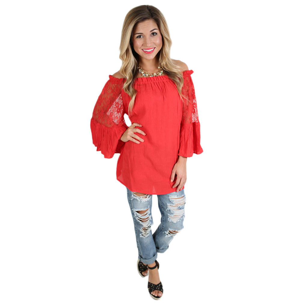 Life To Love Tunic in Red