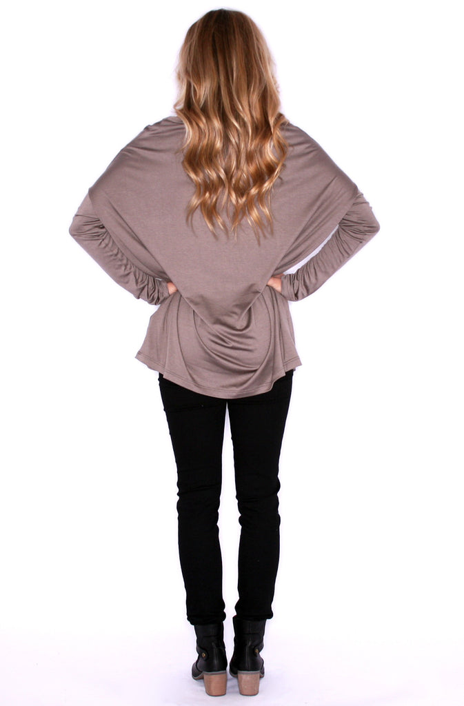 Perfect Little Tee Long Sleeve in Taupe