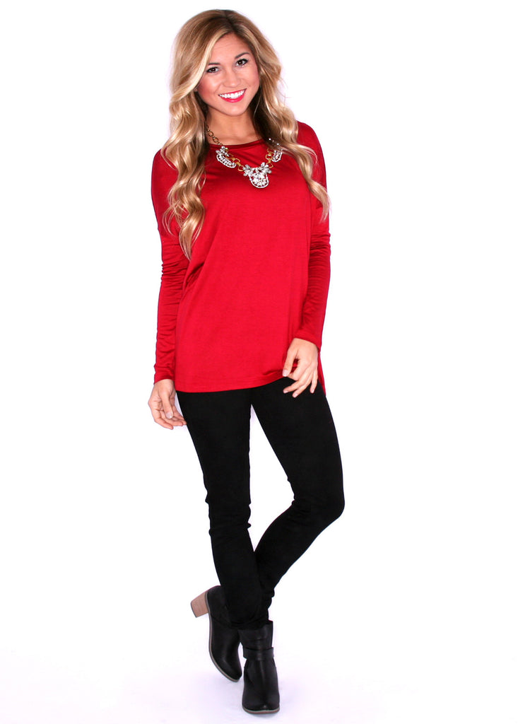Perfect Little Long Sleeve Tee Red