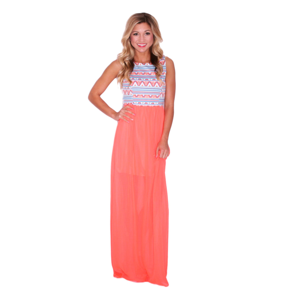 Living With Color Maxi Neon Orange