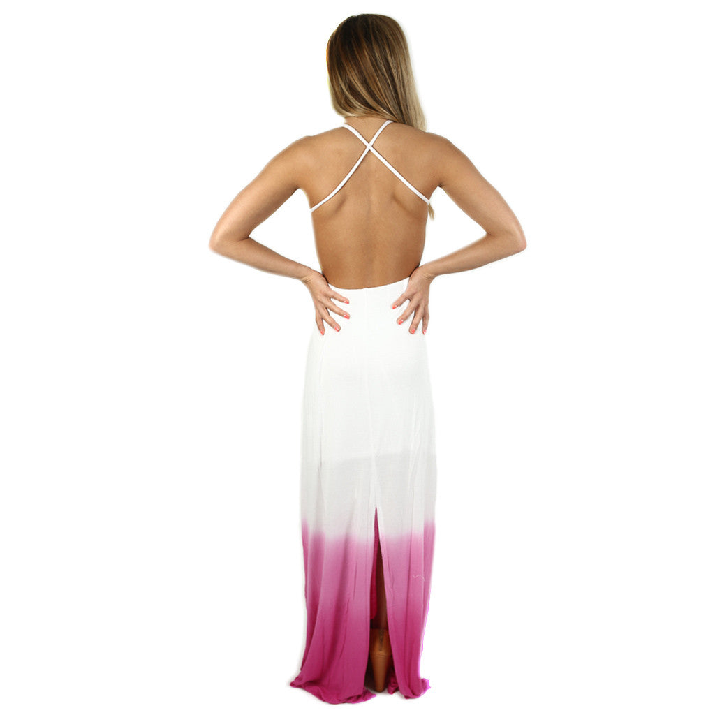 Living In Bliss Maxi in Pink