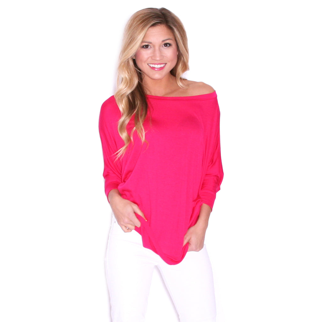 Living In Color Tee in Fuchsia