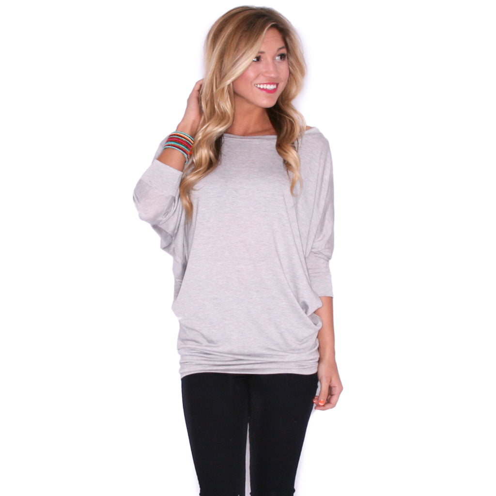 Living In Color Tee in Heather Grey