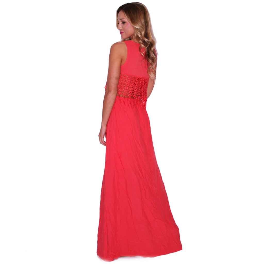 Living Out Your Dreams Maxi in Tomato