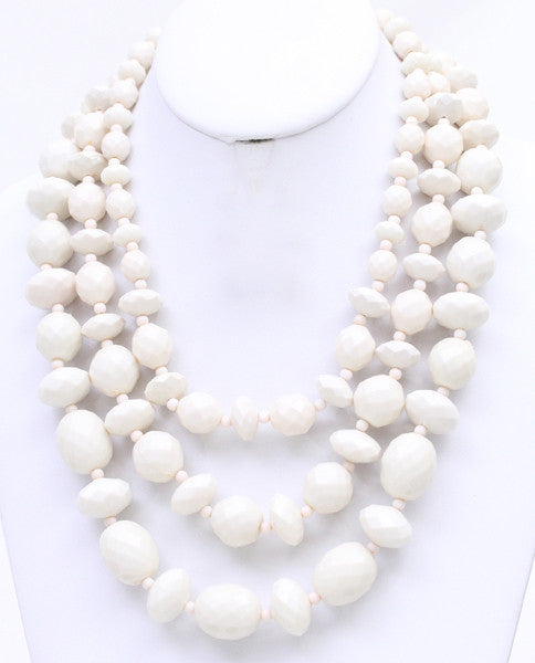 Lovely Strands Necklace in Ivory