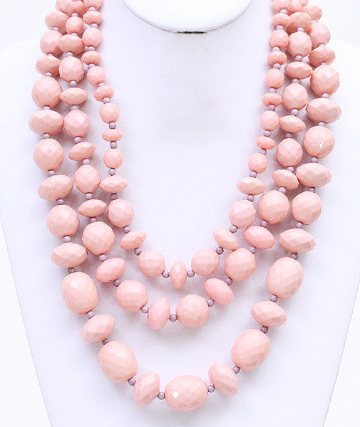 Lovely Strands Necklace in Pink