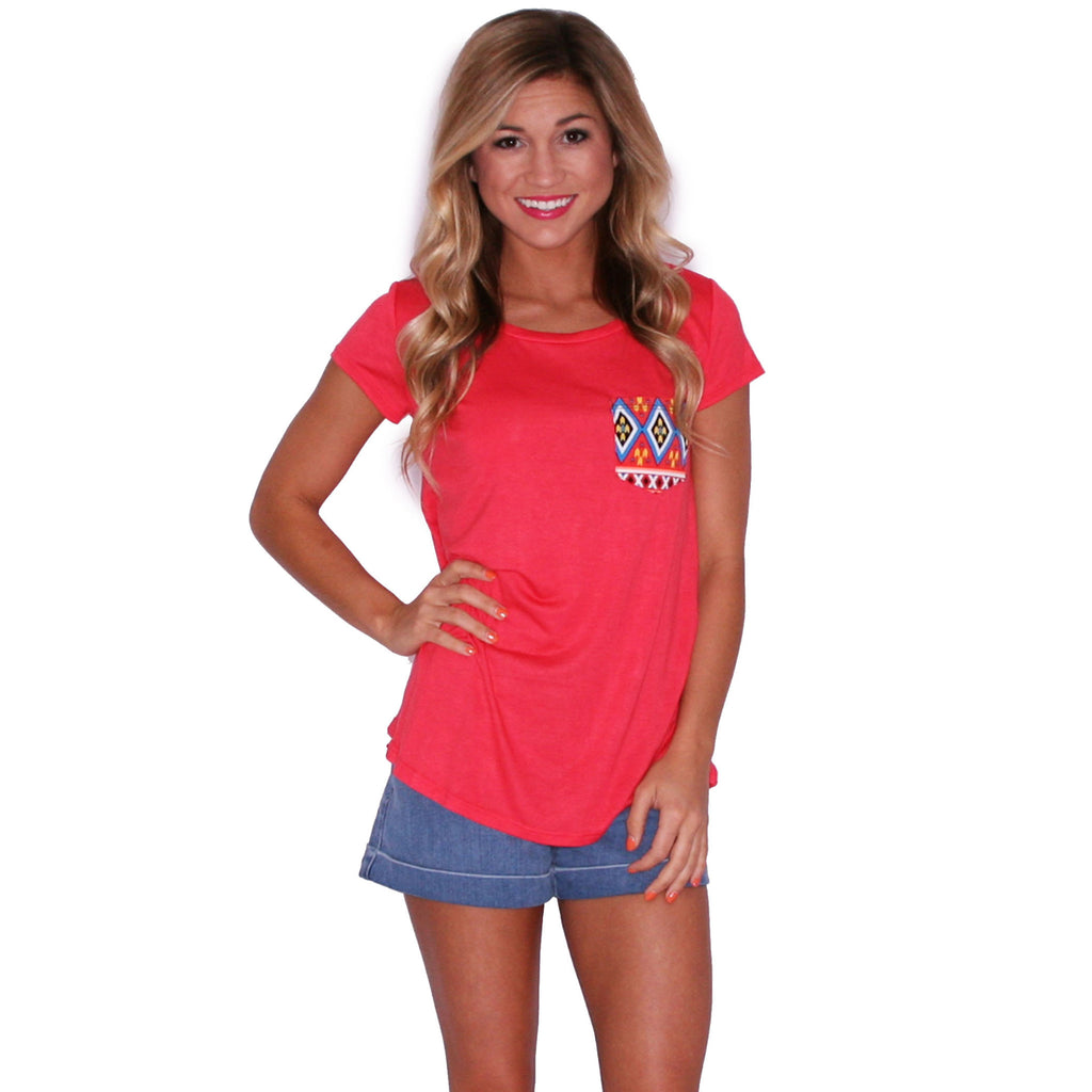 Lovestruck Tee in Coral