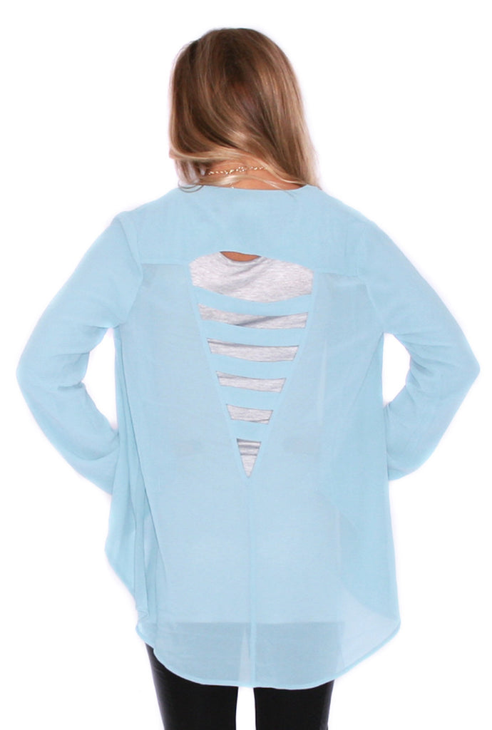 Love You Back Kimono Powder Blue