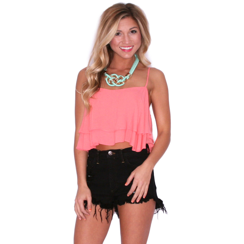 High Rise Distressed Black Shorts