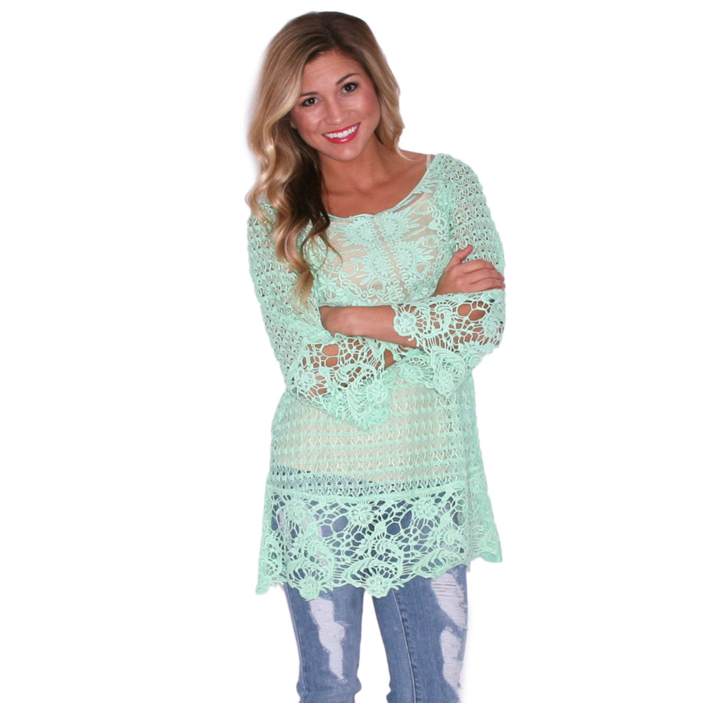 Lucky In Lace Mint