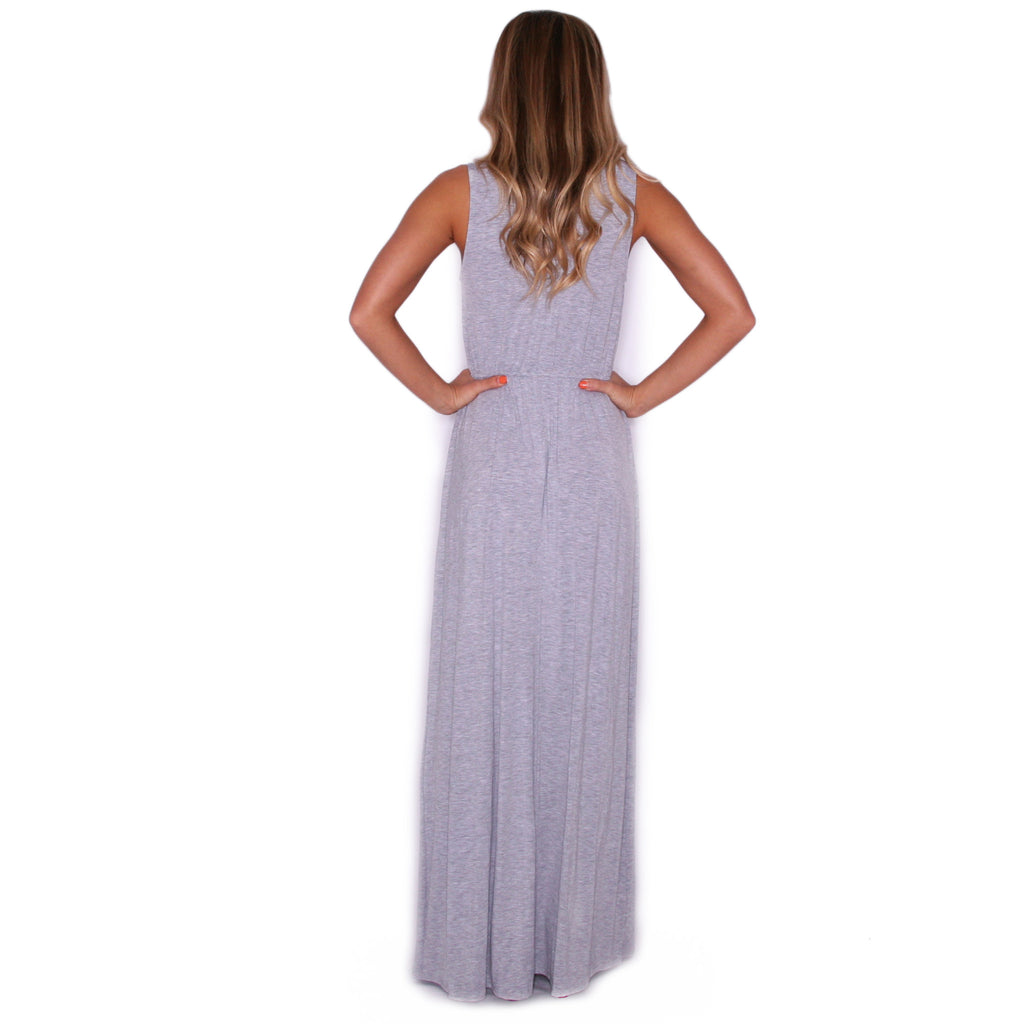 Malibu Sipping Maxi in Heather Grey