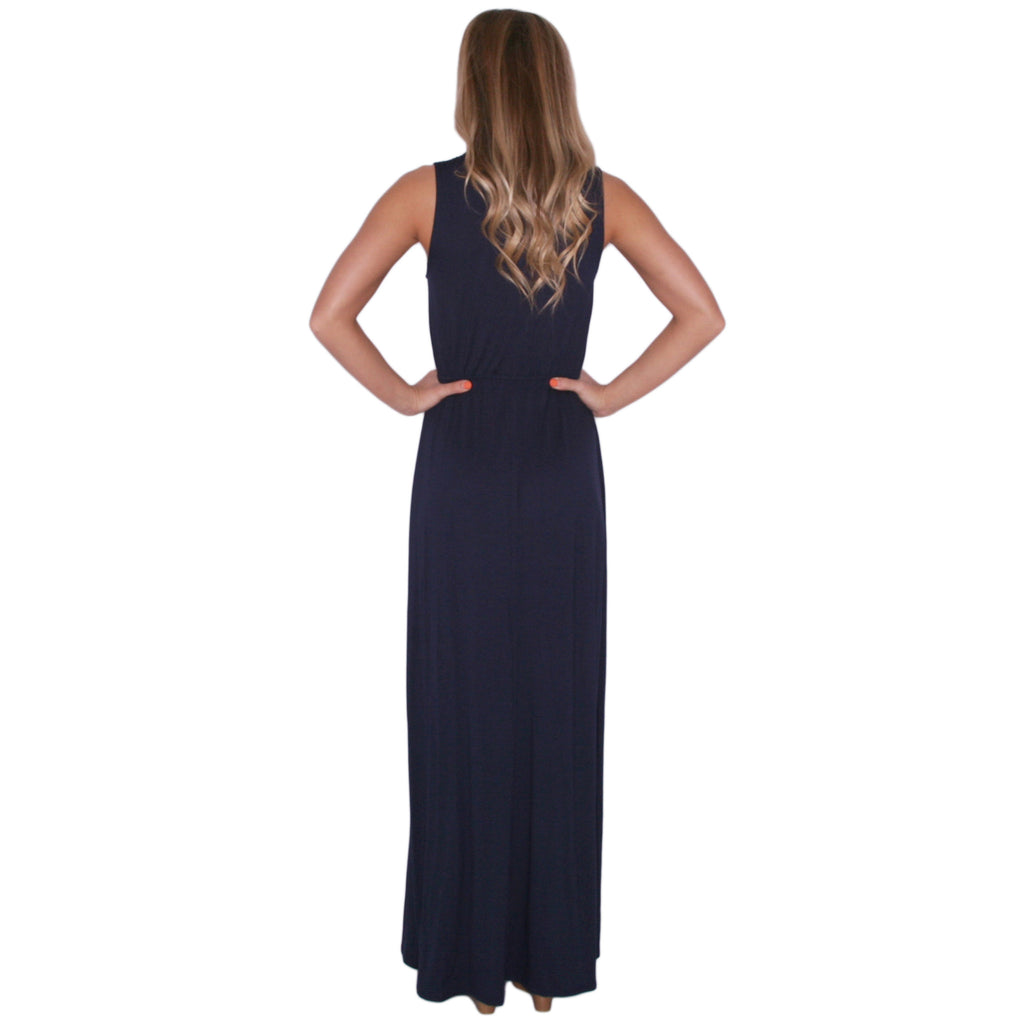Malibu Sipping Maxi in Navy