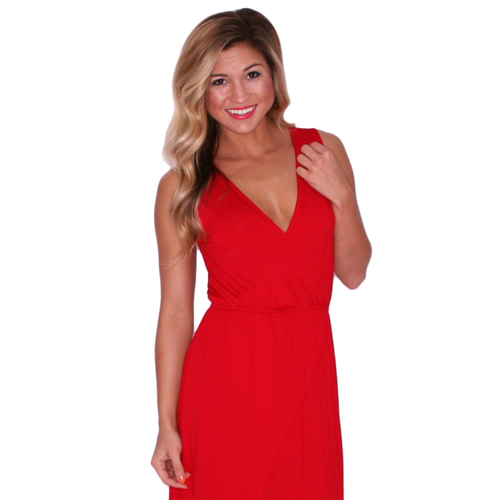 Malibu Sipping Maxi in Red