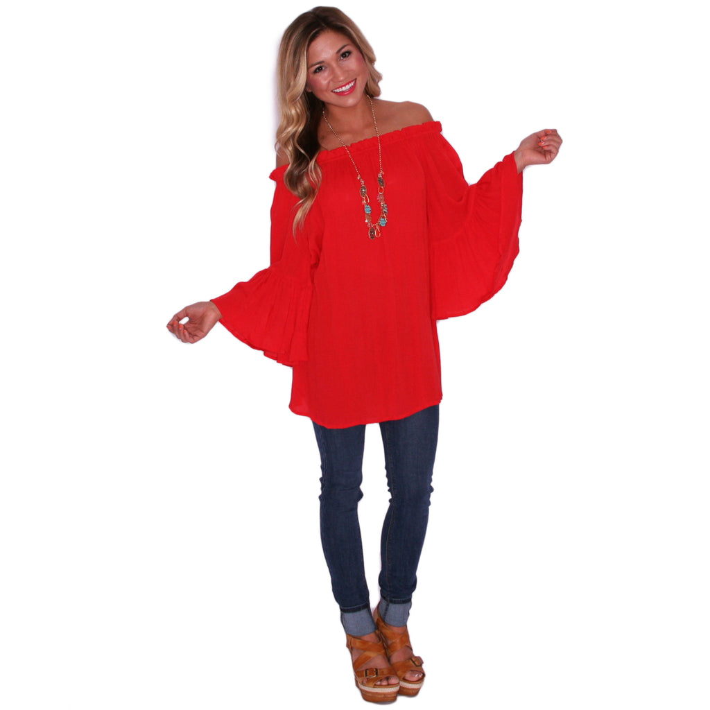 Midnight Skyline Tunic in Red
