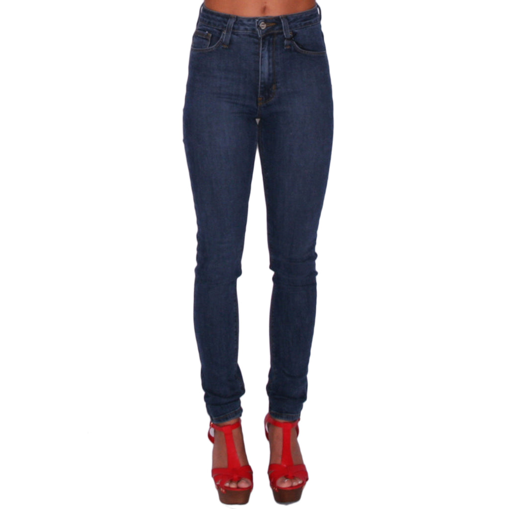 Midrise Skinny Medium Denim