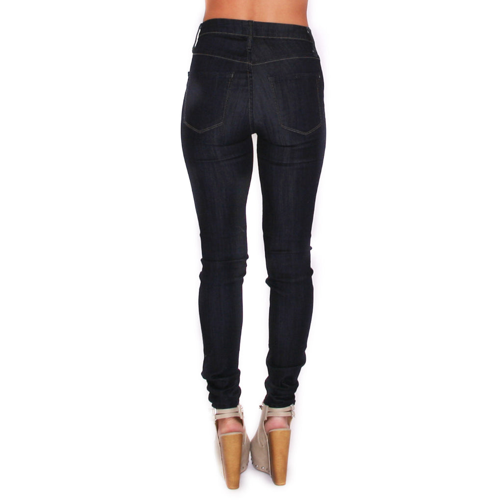 Midrise Skinny Super Dark Denim