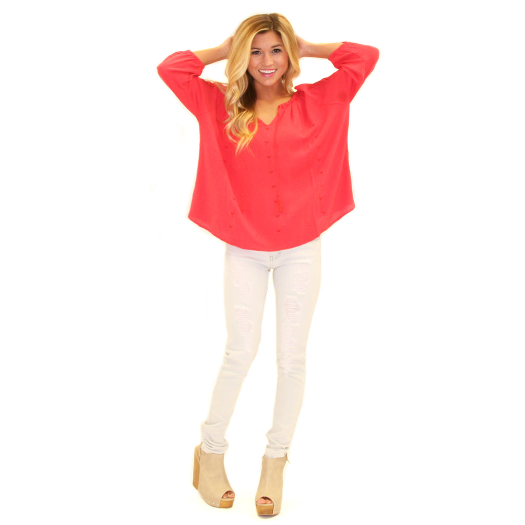 Must Have Tunic Top Coral