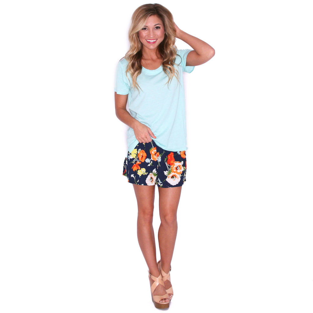 Lakeside Love Shorts in Navy