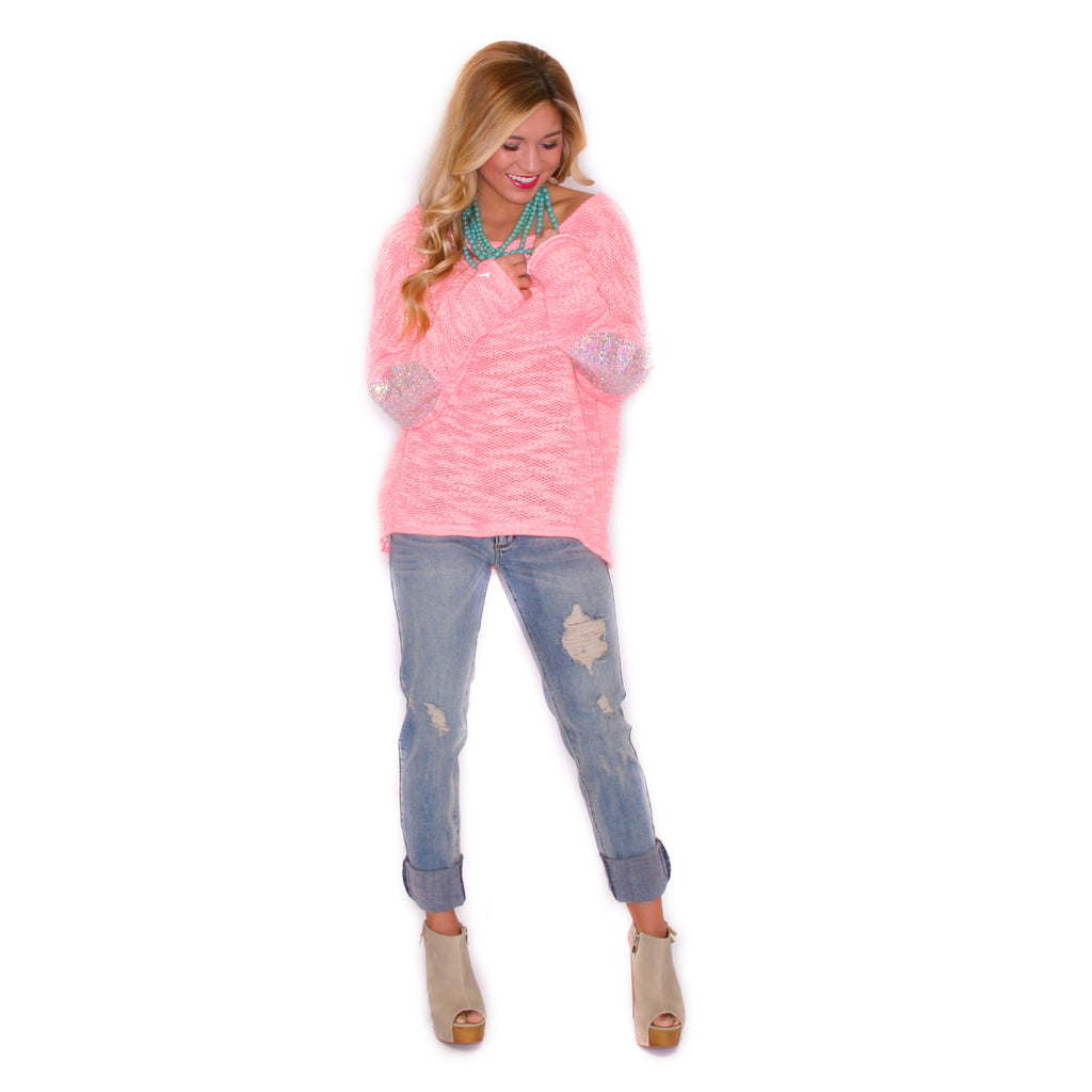 So Obsessed Sweater Hot Pink