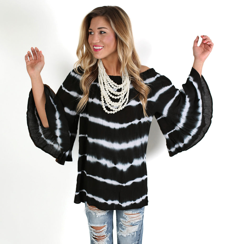 Ocean Mist Tunic in Black
