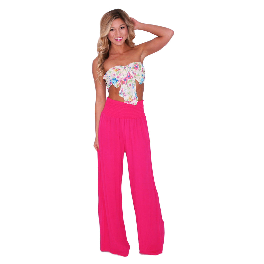 Ocean Tide Pants in Fuchsia