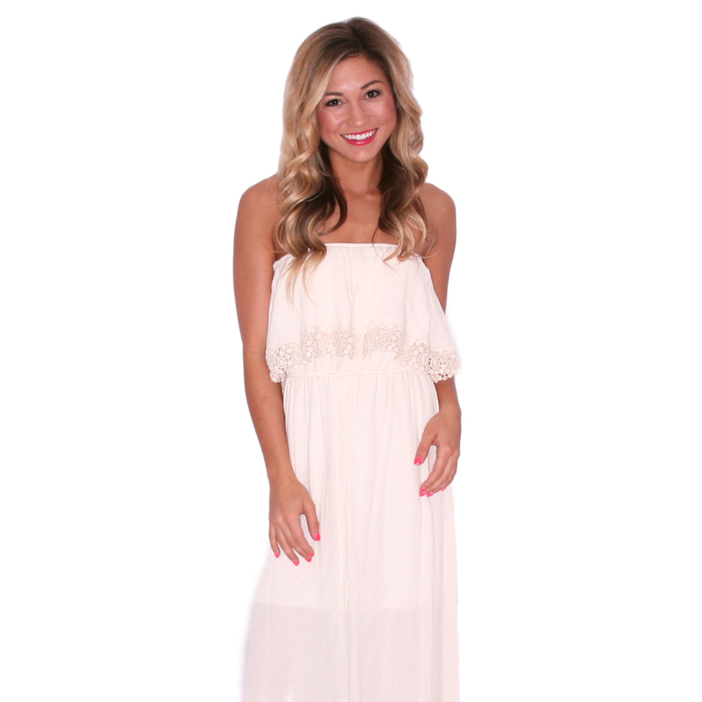 Oh-La-Luxe Maxi in Ivory
