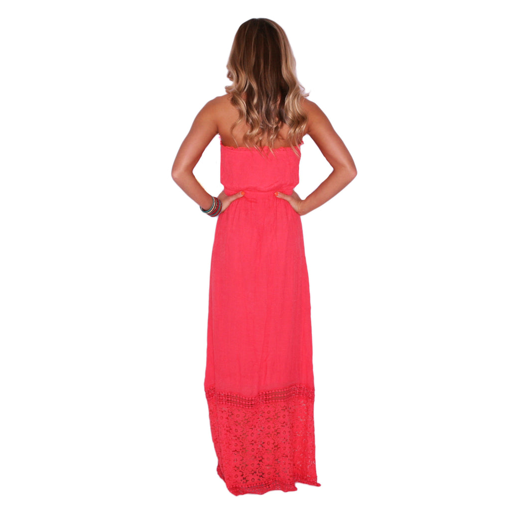 Palm Beach Party Maxi in Coral