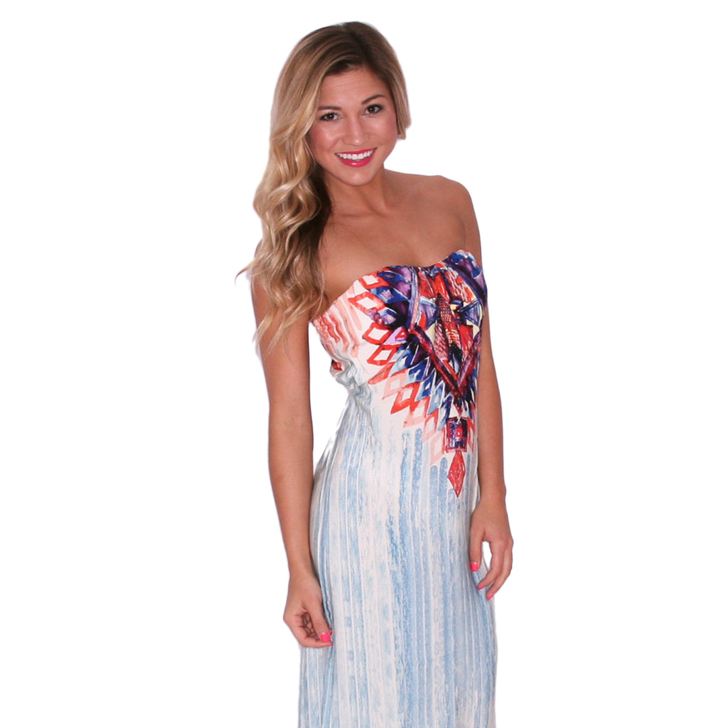 Palm Springs Bound Maxi in Light Blue