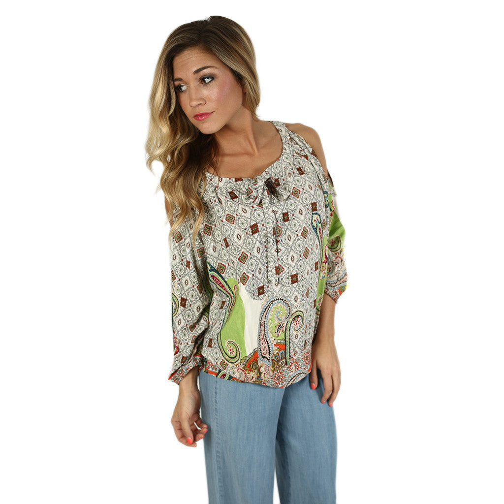 Paradise Bound Top in Lime