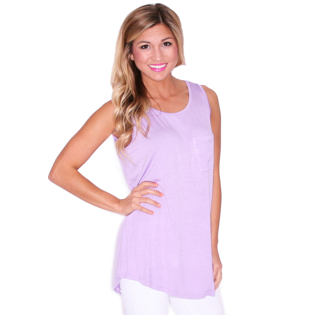 Pardon My Pocket Tank in Light Purple