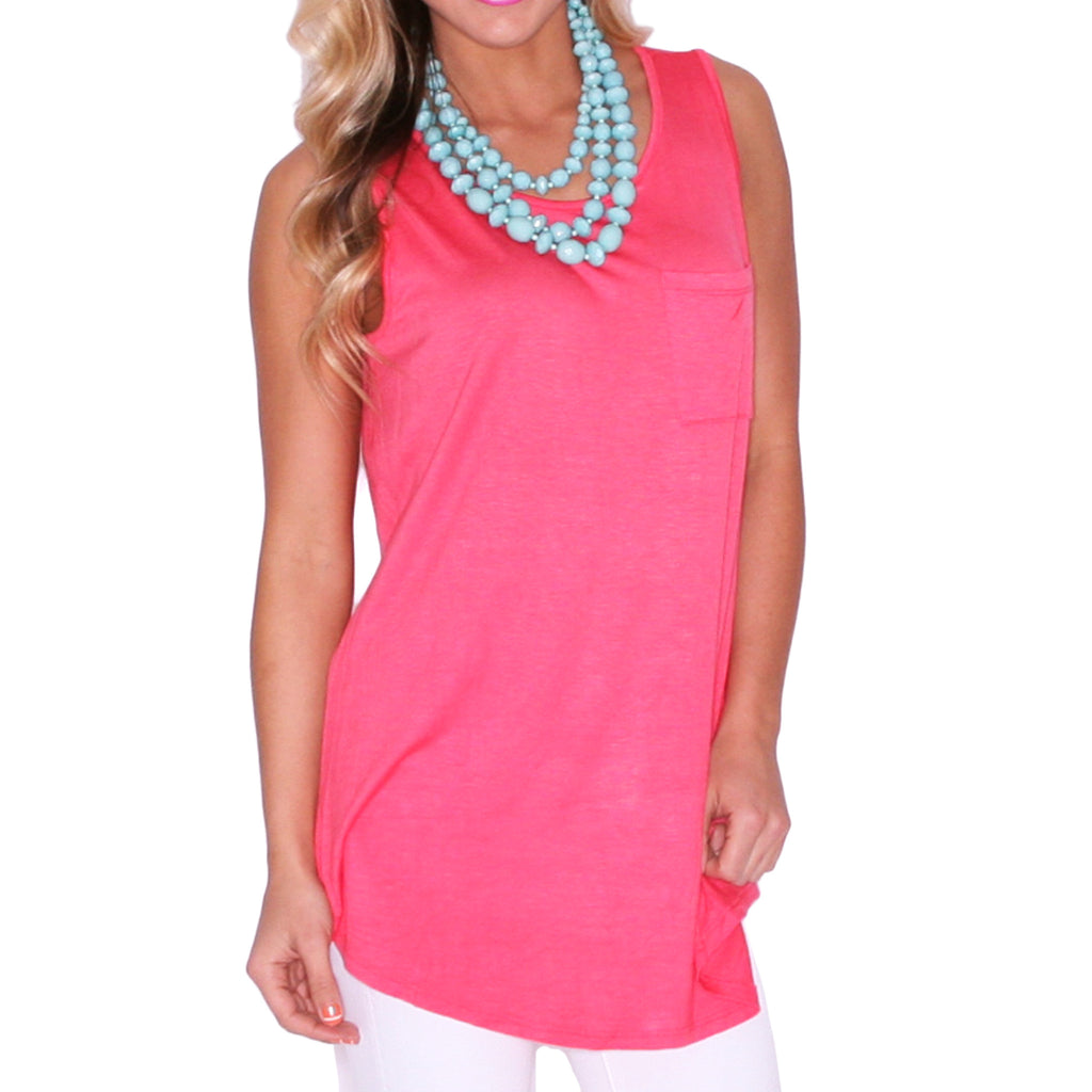 Pardon My Pocket Tank in Coral