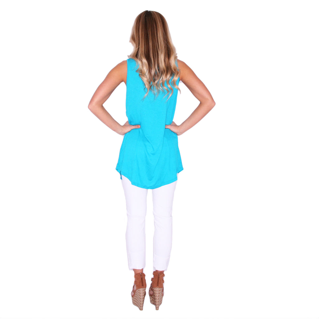 Pardon My Pocket Tank in Turquoise